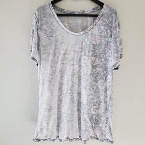 Lucky Brand burnout ombre floral tee